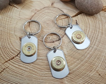 531527e5fca Bullet Key Rings - Men s Accessories - 12 Gauge Shotgun Casing Stainless  Dog Tag Key Chain   Key Ring - Gifts Under 20 - Bullet Key Chain