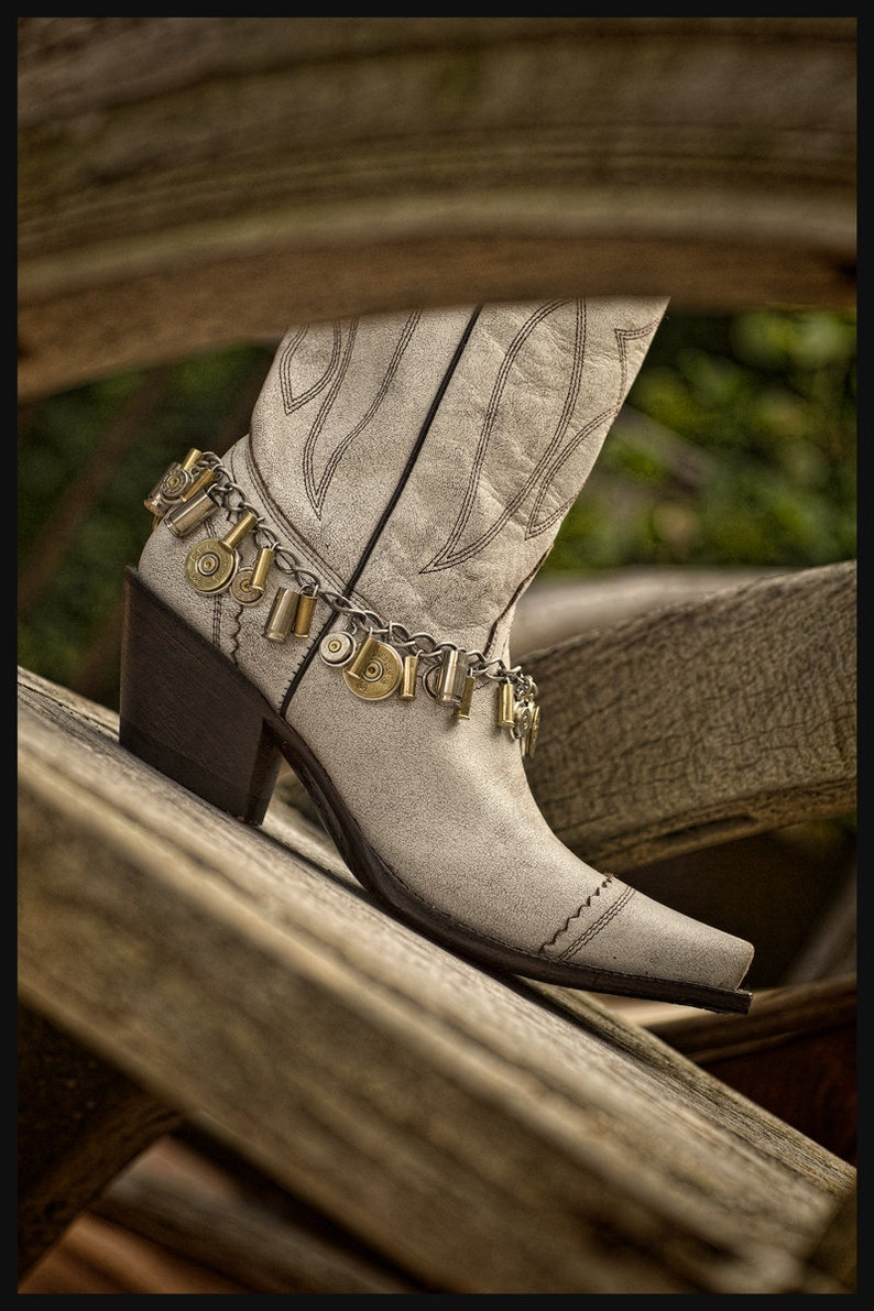 82a3011b949eb Boot Jewelry - Ladies Boot Accessories - Boot Candy - Loaded Bullet &  Shotgun Casing Mixed Metal Loaded Boot Bracelet - BEST SELLER
