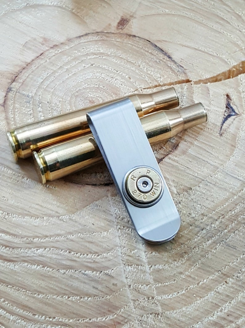 Bullet Money Clip  Brass Bullet Money Clip  Bullet Jewelry  image 0