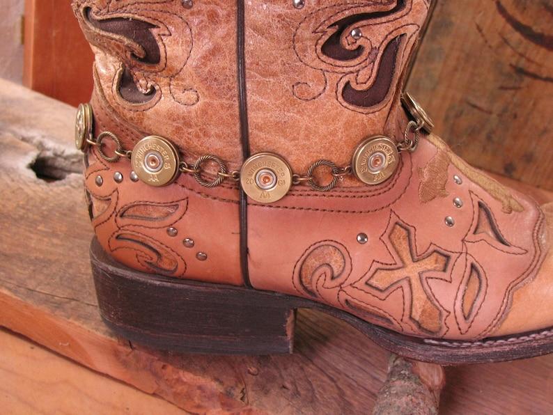 062de3121fb45 Boot Jewelry- Ladies Accessories - Boot Candy - Bullet Jewelry - 20 Gauge  Shotgun Casing Brass Boot Bracelet - Boot Bling