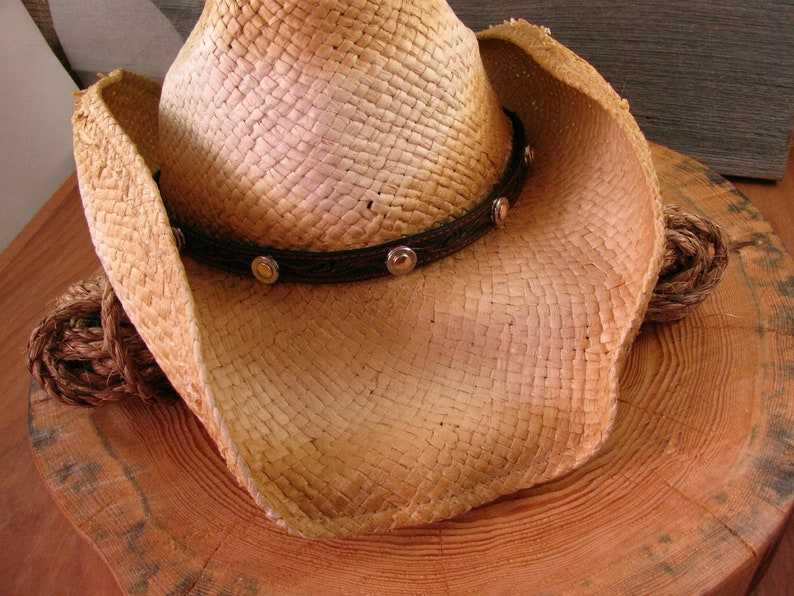 dd4fcc65e189f Genuine Leather Hat Band Bullet Hat Band Cowboy Hat Band