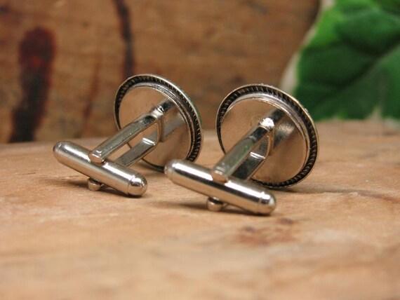 Vintage Kansas City Missouri Fire Department Button Cufflinks Men/'s Cuff Links Men/'s Accessories Repurposed Buttons Fireman Gift