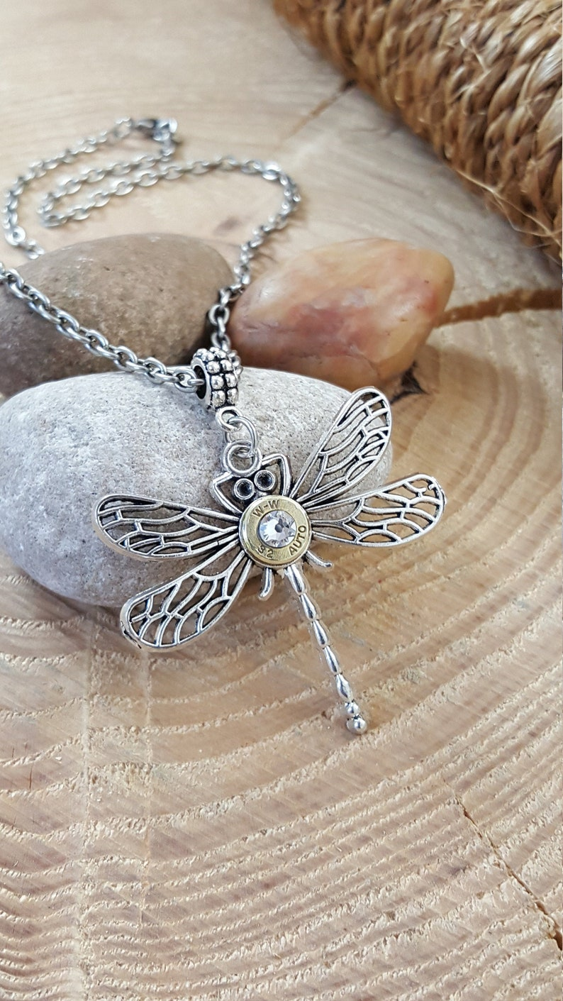 CLEARANCE  50% OFF  Bullet Jewelry  Dragonfly Necklace  image 0