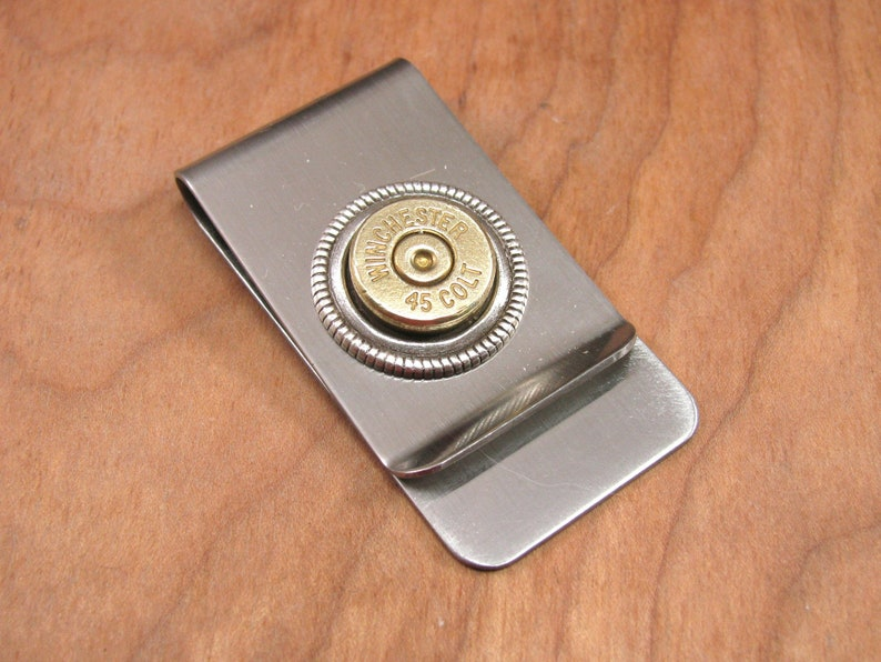 Bullet Money Clip  Brass Bullet Money Clip  Bullet Jewelry  image 0