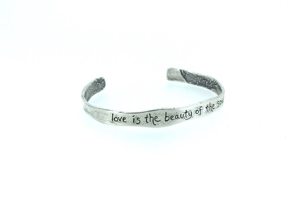 Gift for Her Ready To Ship Never Give Up Refuse to Sink Silver Bracelet Cuff Inspirational Jewelry Anchor