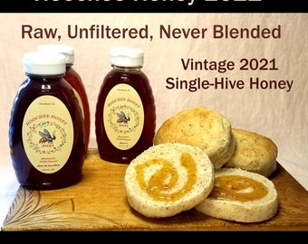 24 oz. Single Hive Overwinter or Xtra Thick Hoochee Honey Limited Edition: Extracted Raw, Unfiltered, and Unblended May and June 2021