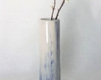Slender Pottery Bud Vase Reed Diffuser Pencil Holder