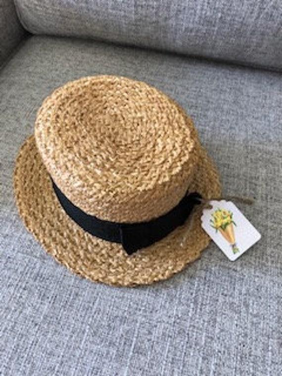 Vintage Italian  Halper Straw  Boater Hat