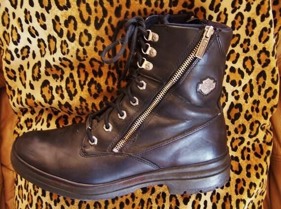 Harley Davidson Black Leather Boot Biker Harley Bo