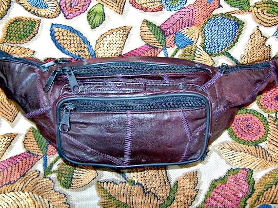 Fanny Pack Patched Leather Hands Free Belt Bag Uni