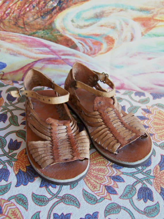 cc089f7f9dc8 Child Huaraches Mexican Sandal Mexican shoe Traditional