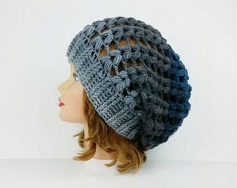 Häkeln Sie Beanie Grauen Hut Häkeln Hut Frauen Mütze Beanie Etsy