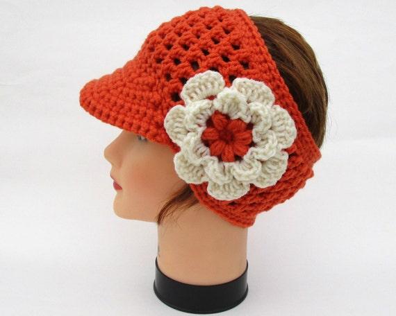 Damen Sonnenblende Stirnband mit Blume Damen Stirnband   Etsy