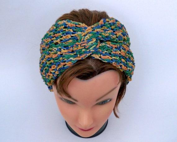 Gedrehte Knoten Stirnband Häkeln Kopftuch Turban Stirnband Etsy