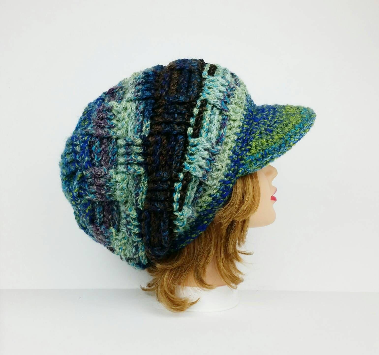 Crochet Hats For Women Newsboy Cap Hat Visor Cap Slouchy  185a1d4f62c