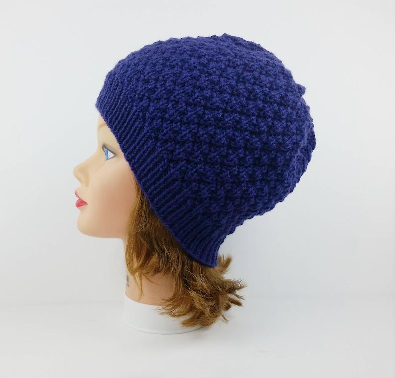 ac299f7ebb7 Knit Beanie Hat Purple Hat Knit Hat Women s Hat Winter