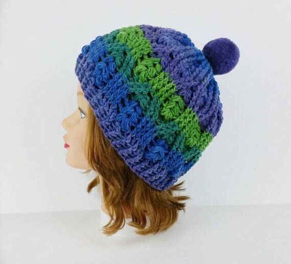 d0d7ac47c54 Pom Pom Beanie Hat Crochet Hat Women s Hat With Pom Pom