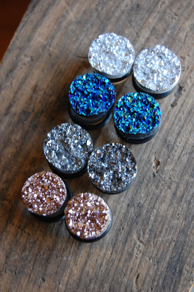 Choose Color 9/16 inch 14mm or 5/8 inch 16mm Faux Druzy image 0