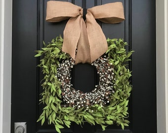 NEW Boxwood Square Wreath, Square Boxwood Wreath, Square Wreath, Front Door  Wreath,
