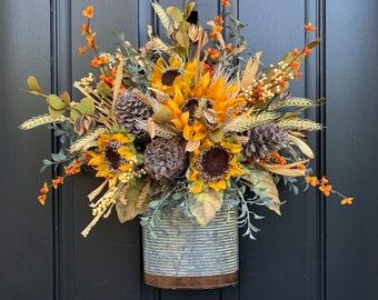 NEW Farmhouse Sunflower Door Wreath
