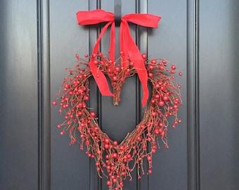 Valentine Wreath Valentines Day Decor Boxwood Heart Wreath Etsy