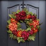 Fall Peony Wreath, Fall Hydrangea Wreath, Fall Autumn Wreaths, Fall Colored Wreaths, Wreaths for Fall, Autumn Wreaths, Wreaths for Autumn