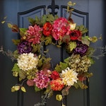 Front Door Wreaths for Spring, Colorful Year Round Wreath