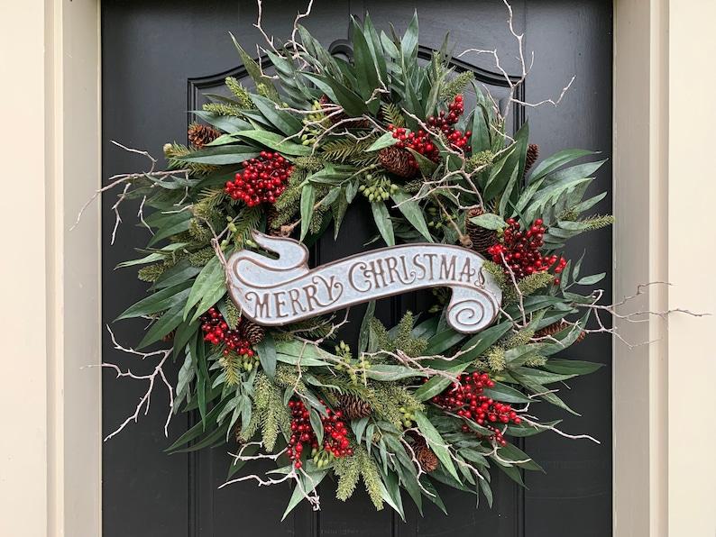 Christmas Wreath Holiday Wreath Decor Premium and Luxury image 0