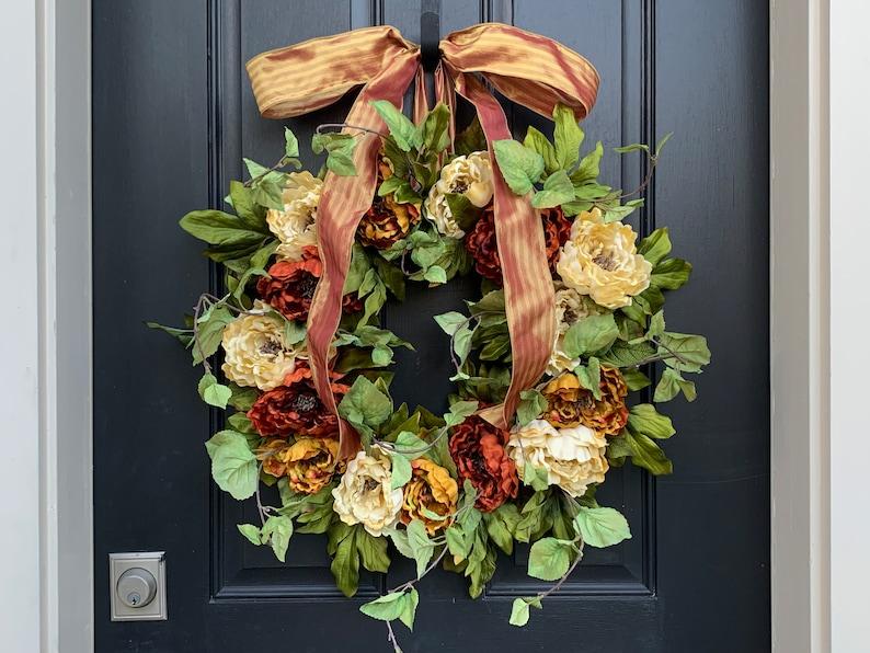 Fall Door Wreath SALE l Front Door Wreath l Fall Wreath l Fall image 0