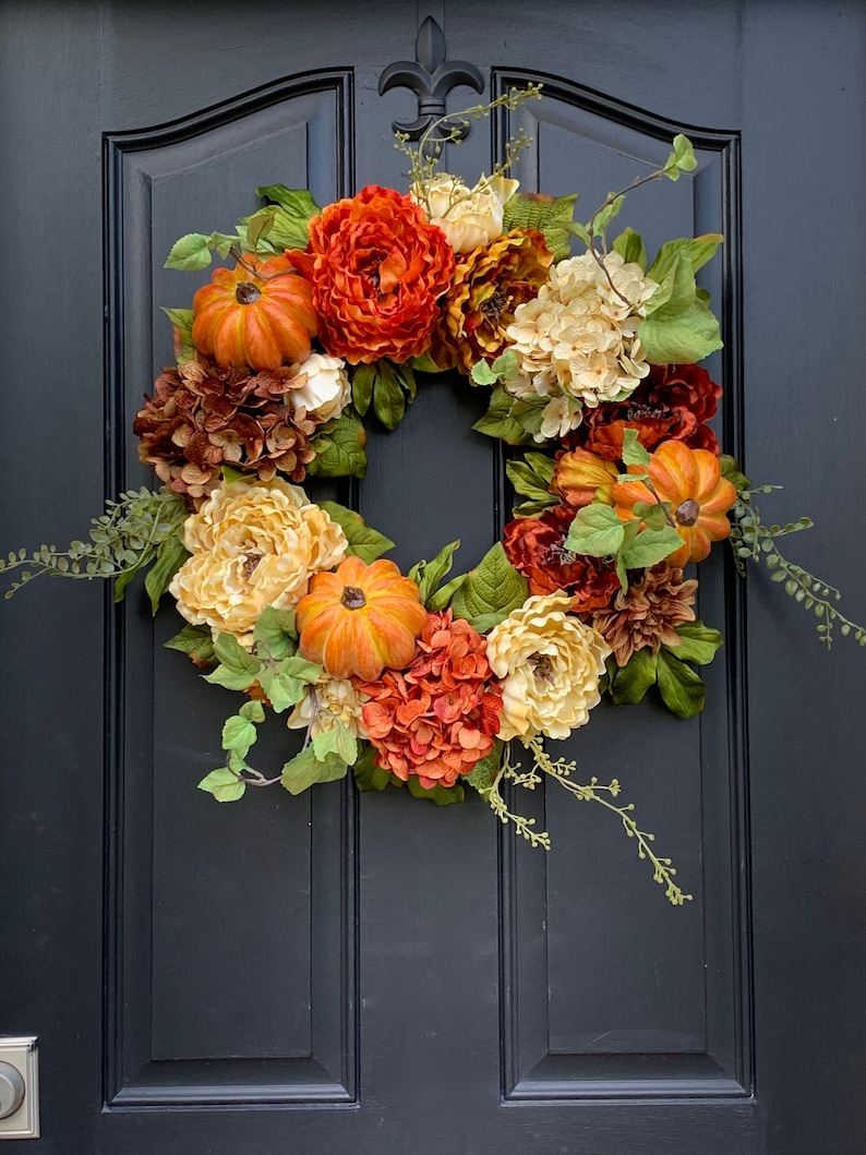 Fall WREATHS for Front Door Fall Wreathes Autumn Decor image 0