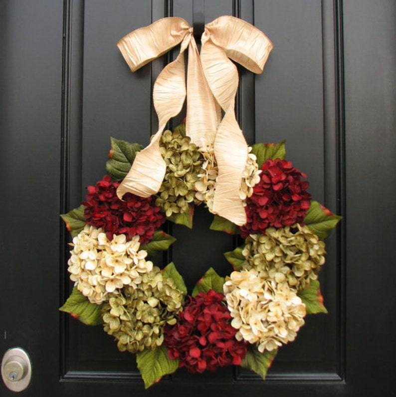 Front Door Wreaths for Christmas Hydrangea Wreath Holiday image 0
