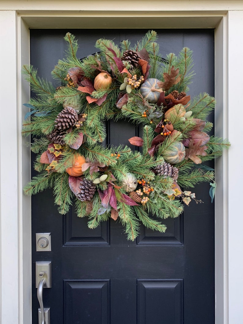 SALE Fall Front Door Wreaths 36 Fall Harvest Artificial image 0