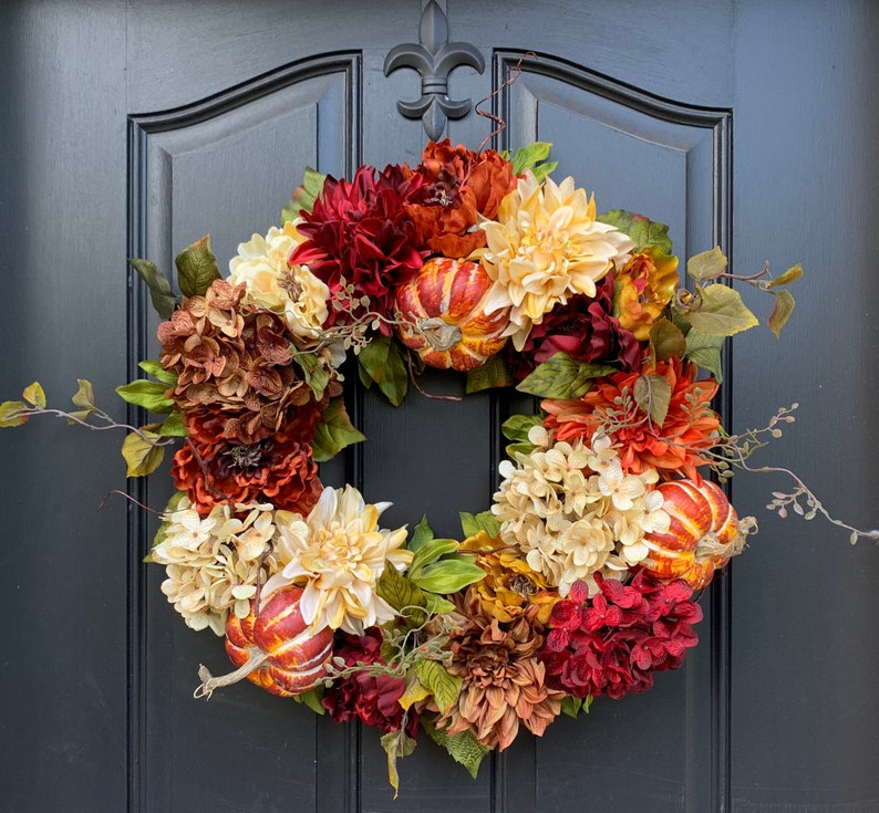 FALL WREATHS Fall Wreaths for Front Door Fall Wreath image 0