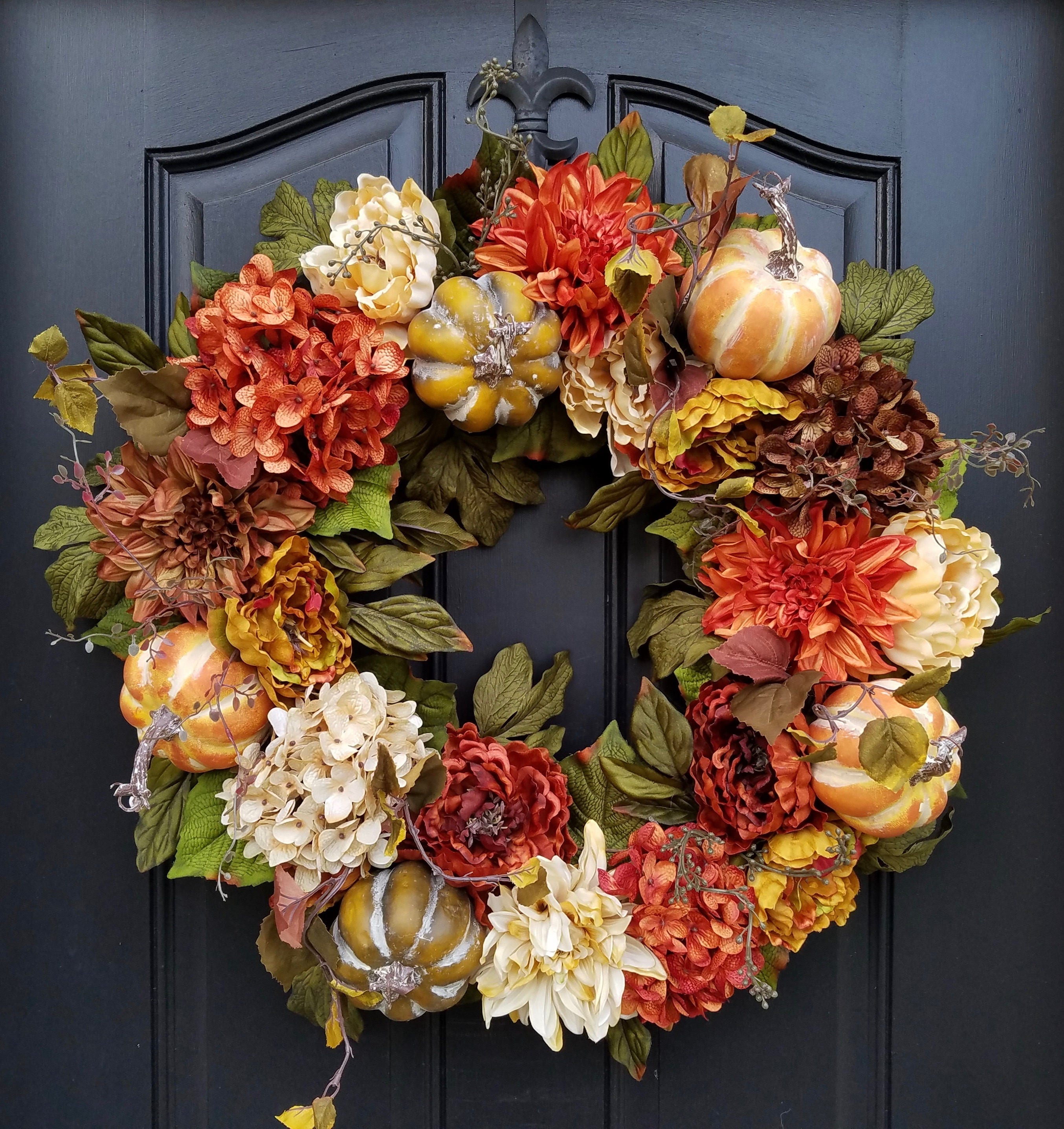 Thanksgiving Wreath Fall Wreaths For Front Door Fall Home