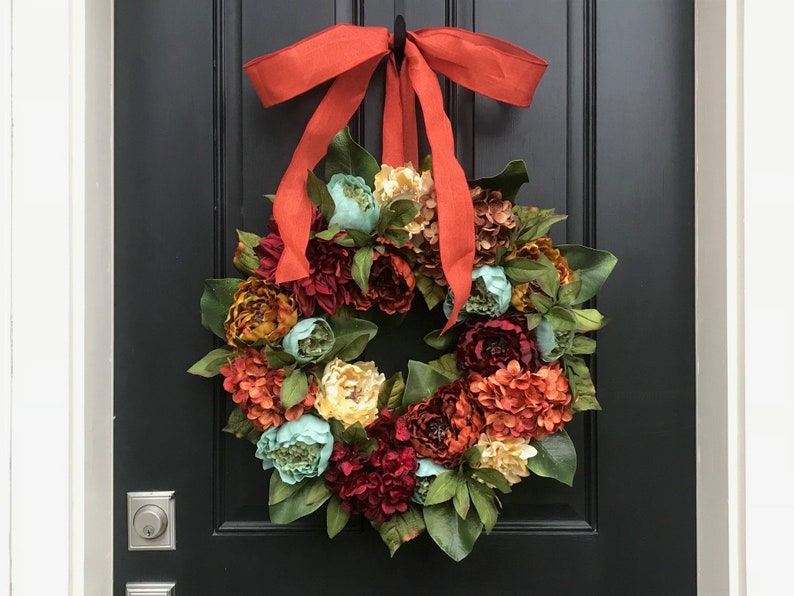 Fall Thanksgiving Front Door Wreath image 0