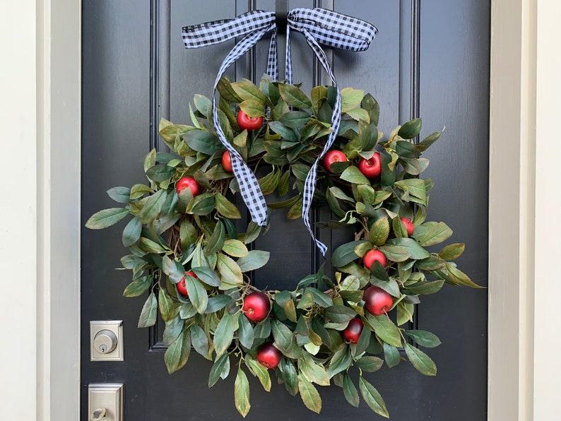 Fall Mini Apple Wreath for Front Door image 0