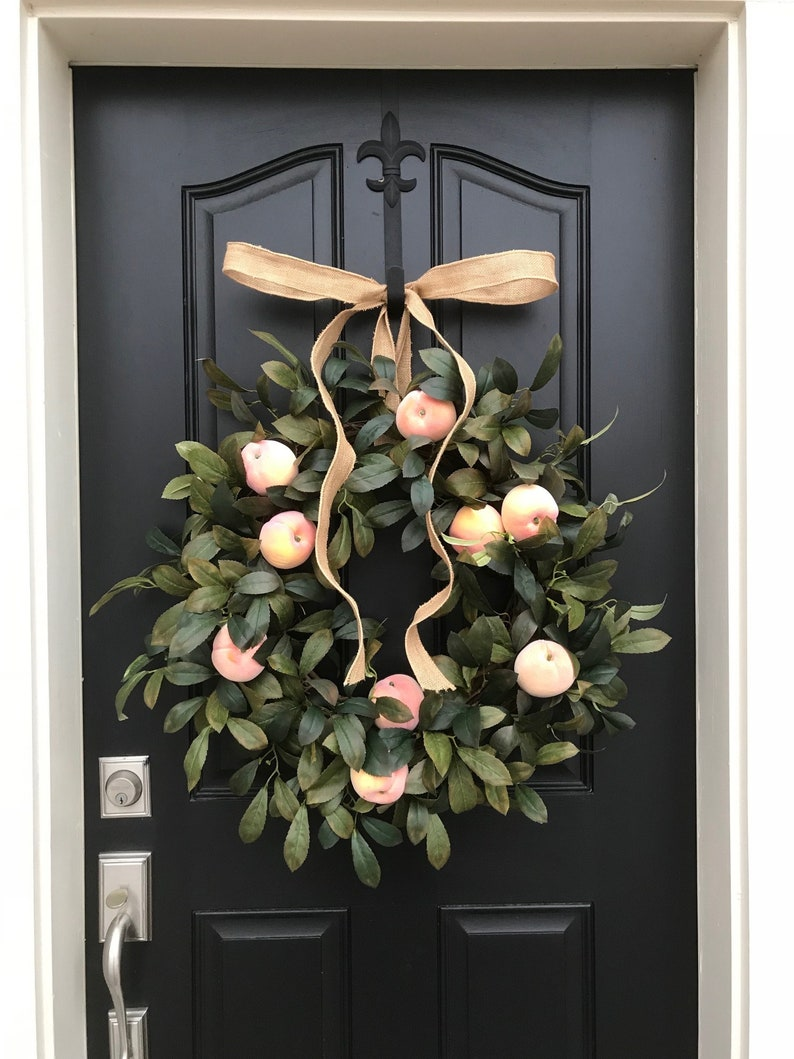 Spring Wreath Spring Wreaths For Door Fruit Wreaths Spring Etsy
