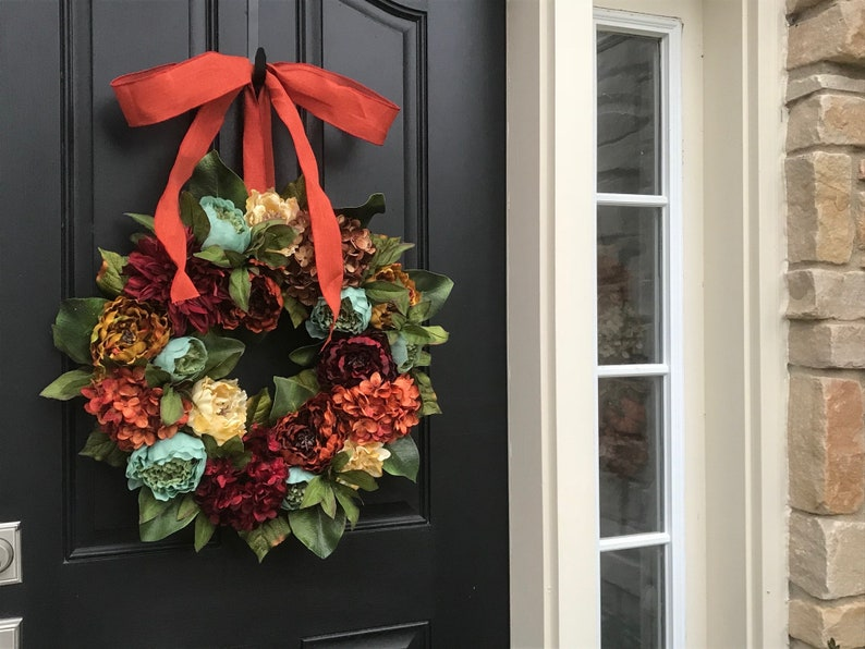 Fall Wreaths for Front Door Coffee Decor Wreaths Fall Peony Wreaths Front Door Wreaths Thanksgiving Wreath NEW Fall Wreath
