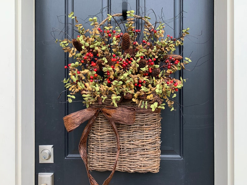 Rustic Farmhouse Fall Basket l Fall Gatherings Basket image 0