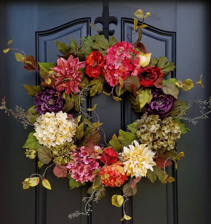 Spring Through Fall Wreath Wreaths Door Wreaths Summer Etsy