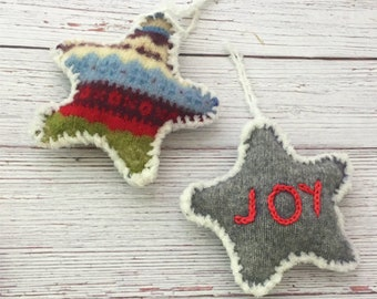 DIY Star Ornament Crochet Pattern Easy Pattern DIY Christmas Ornament Christmas Tree Gift Idea DIY Gift for the Holidays Upcycle Ugly Xmas