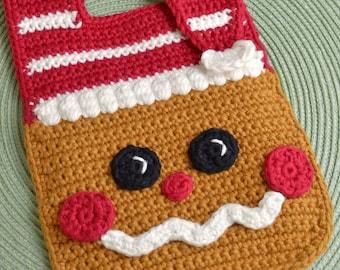 Crochet pattern Gingerbread Baby Bib Drool Bib Spit Bib Burp Bib Food Bib for Christmas babies and toddlers shower gift INSTANT pdf DOWNLOAD