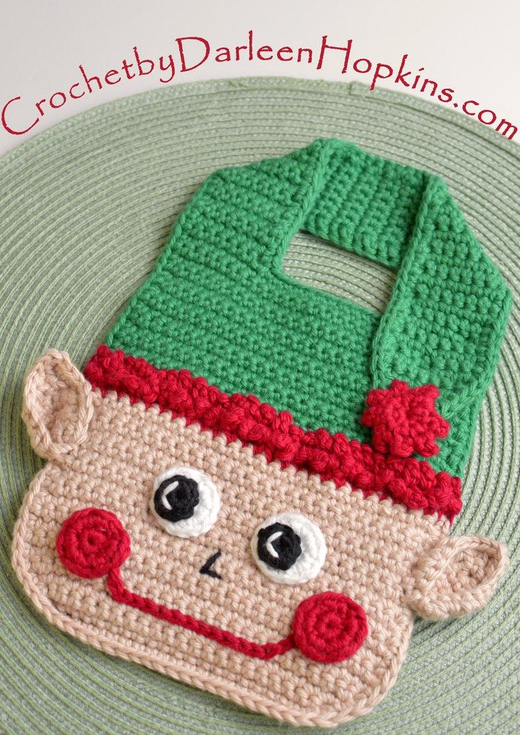 Crochet Pattern Elf Baby Bib Drool Bib Spit Bib Burp Bib Food Etsy