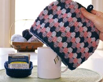 Crochet pattern mug cozy Tea for ME UNsquared Granny tea cozy crochet pattern tea cosy tea cosie INSTANT Pdf DOWNLOAD kitchen crochet knit
