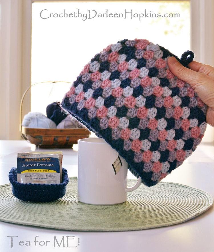 Crochet Pattern Mug Cozy Tea For Me Unsquared Granny Tea Cozy Etsy