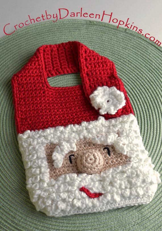 Crochet Pattern Santa Baby Bib Drool Bib Spit Bib Burp Bib Etsy