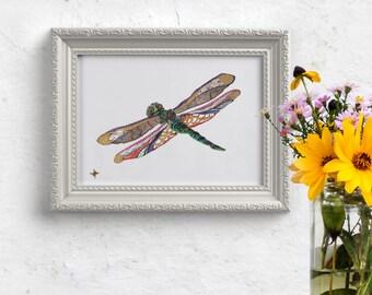 Dragonfly // home decor// Art Print// boho // dragonfly art // wall art