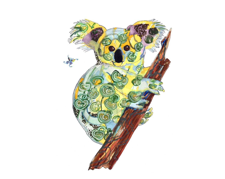 Verfilzt Koala Limited Edition vom original print / / Home   Etsy