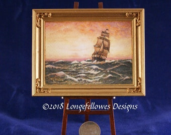 Miniature Watercolour Painting in 1:12 Scale - #27 (Sunset Clipper)