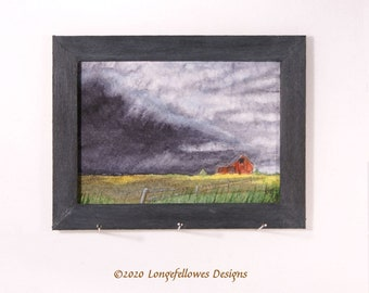 No. 51 Prairie Storm - Miniature Dollhouse Painting in 1:12 Scale